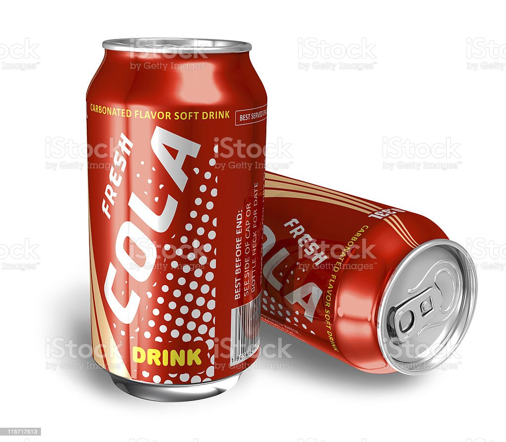 Cola drinks in metal cans royalty-free stock photo