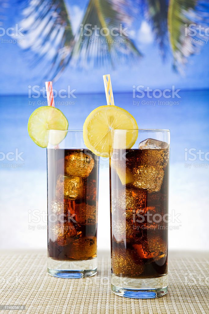 Cola drinks royalty-free stock photo