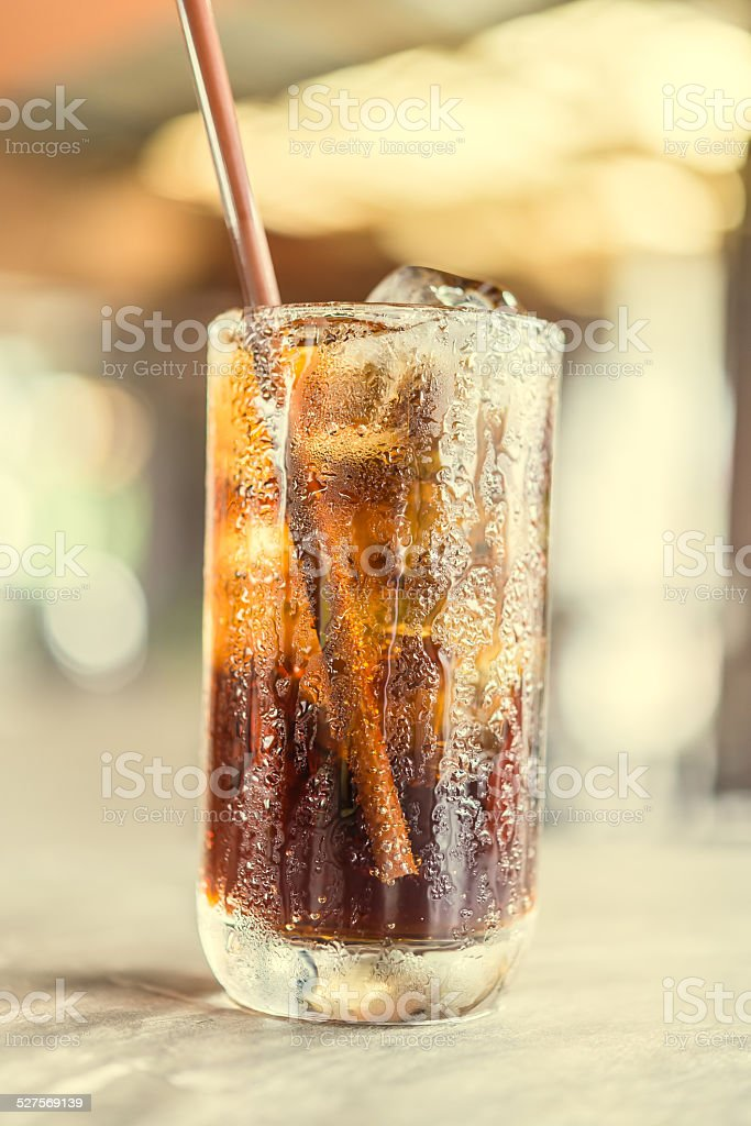 Cola glass stock photo