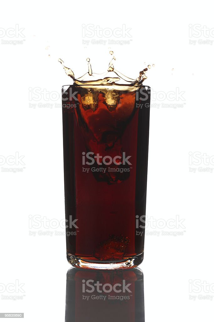 Cola Glass Splash stock photo