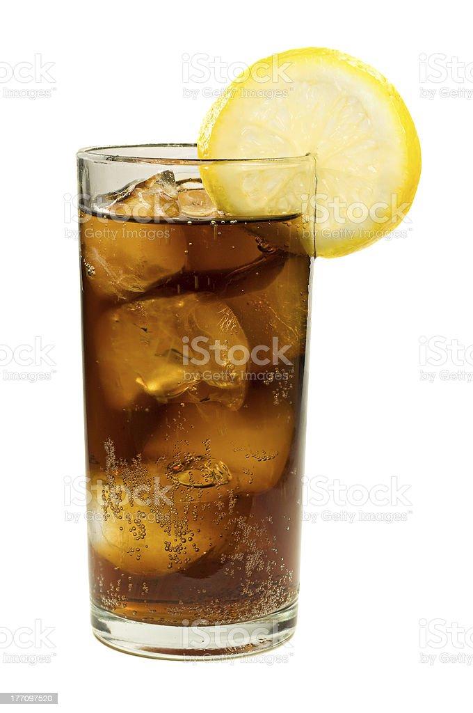 Cola Ice and Lemon royalty-free stock photo
