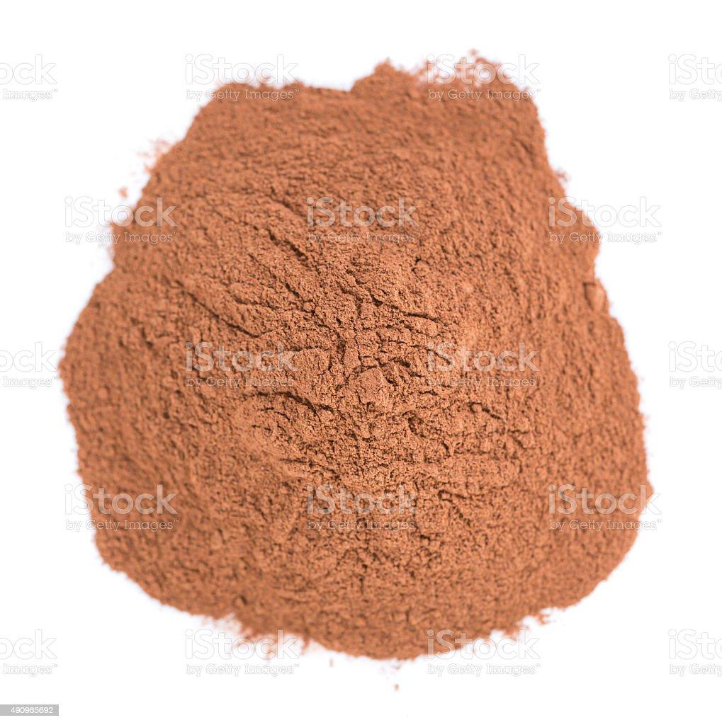 Cola Nut Powder isolated on white stock photo