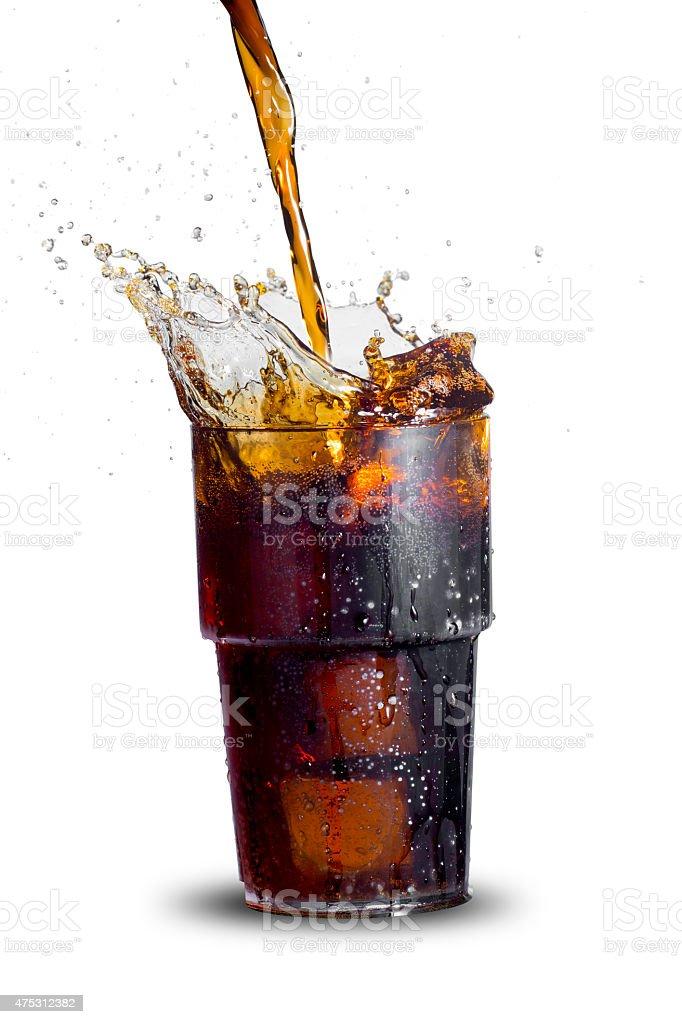 Cola Splash stock photo