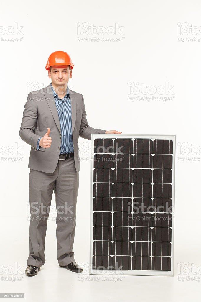 colar battery technology man stock photo
