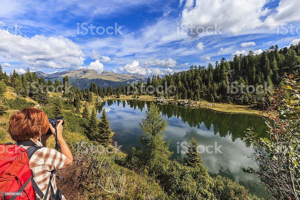 Colbricon Lakes, Trentino-Alto Adige, Italy stock photo