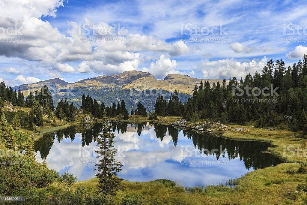Colbricon Lakes, Trentino-Alto Adige, Italy royalty-free stock photo