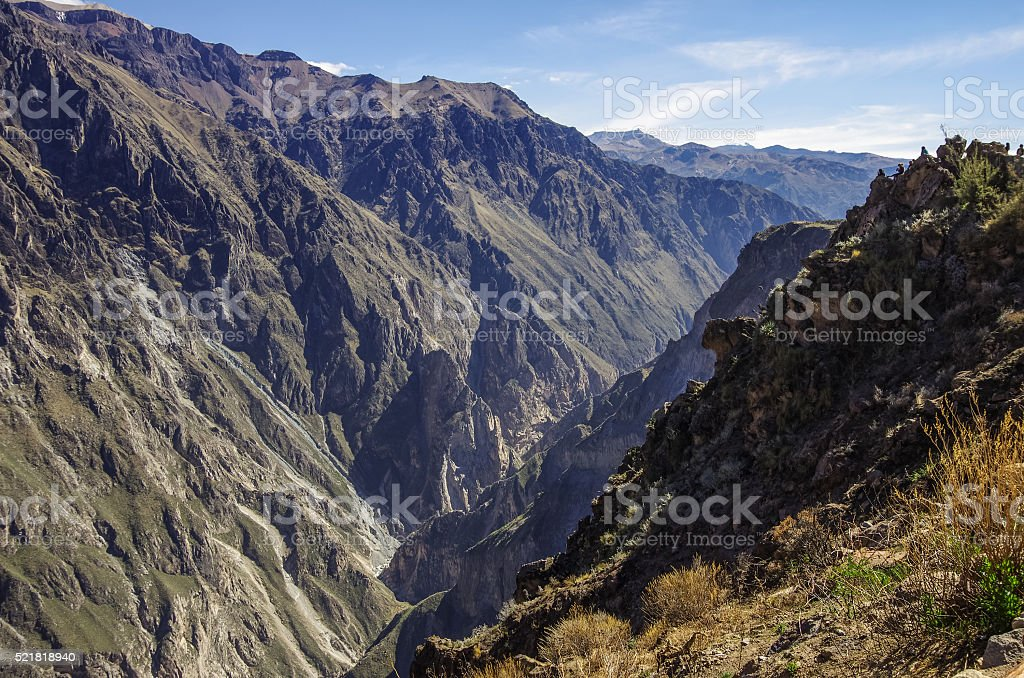 Colca canyon near Cruz Del Condor viewpoint. Arequipa region, Pe stock photo