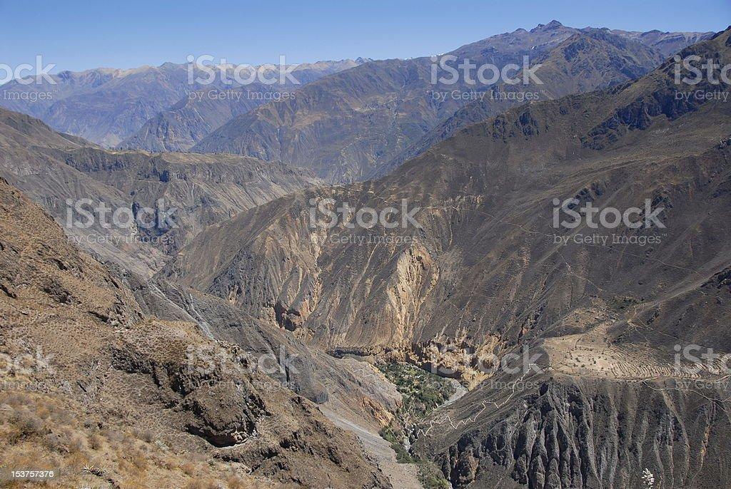 Colca canyon royalty-free stock photo