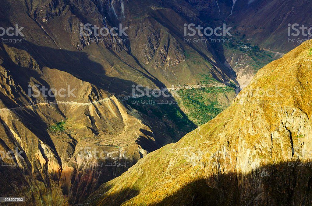 Colca Canyon Sunset stock photo