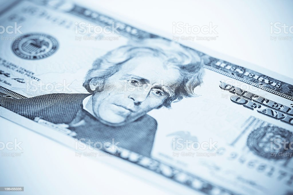 Cold $20 royalty-free stock photo