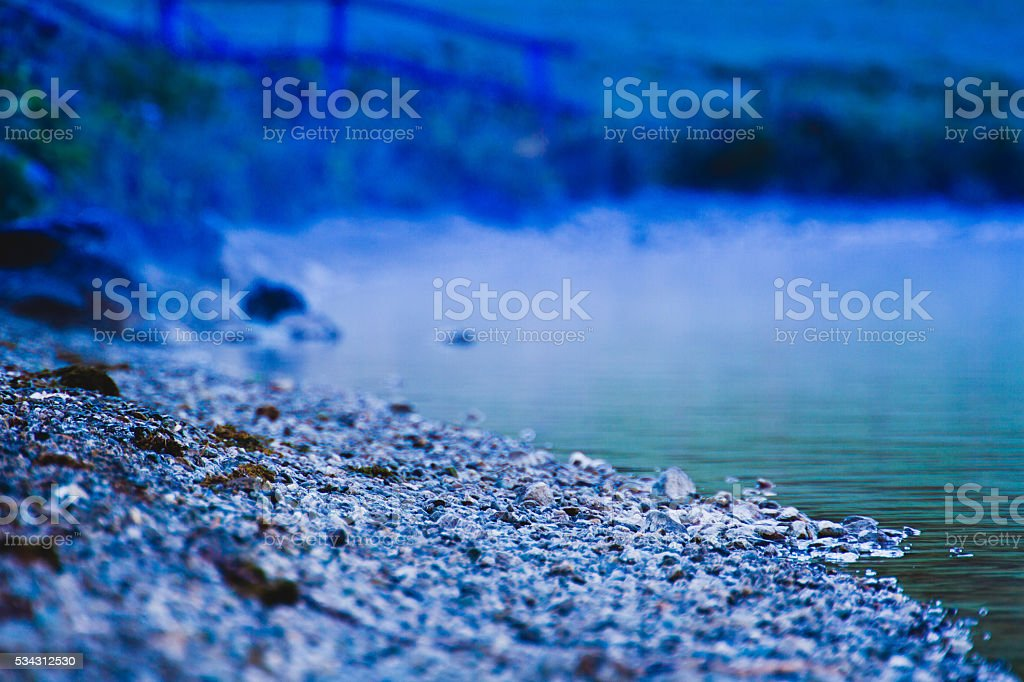 Cold Alaskan Beach stock photo