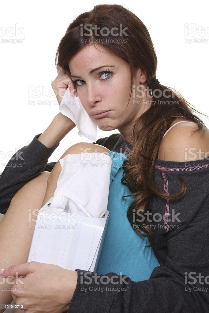 cold and allergies stock photo