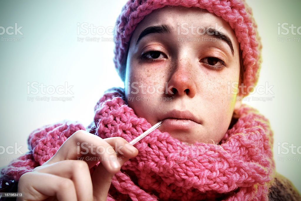cold and flu stock photo