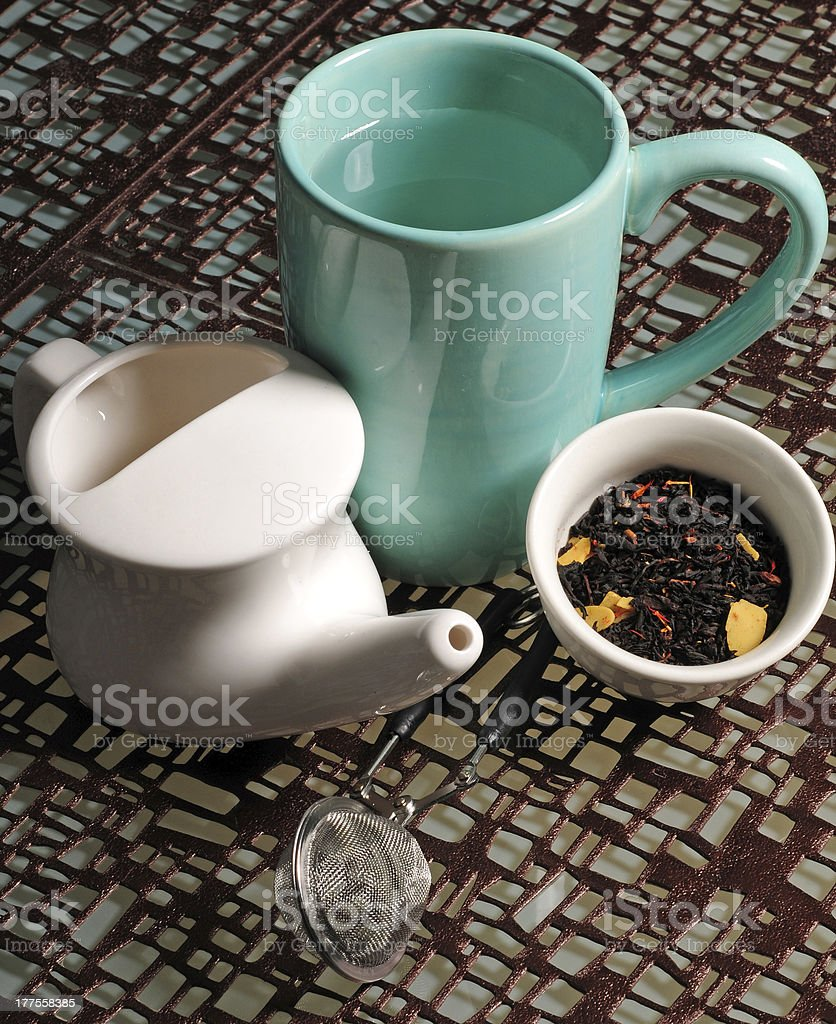 Cold and flu remedies stock photo