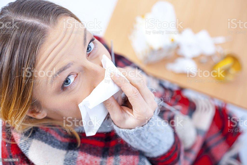 Cold and Flu Season stock photo