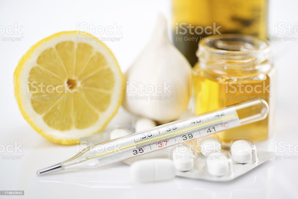 Cold And Flu Treatment royalty-free stock photo