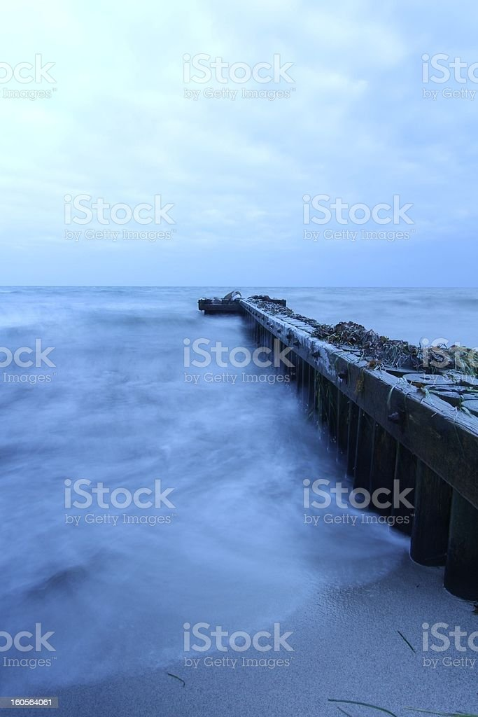 cold beach royalty-free stock photo