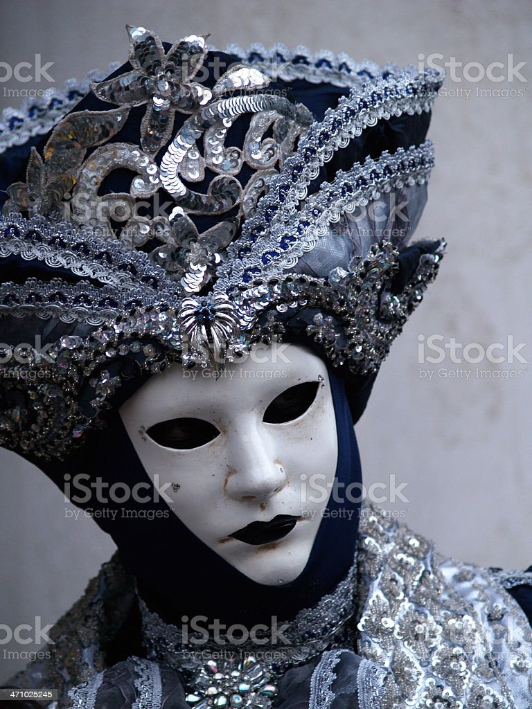 Cold Beauty; Carnival in Venice. royalty-free stock photo