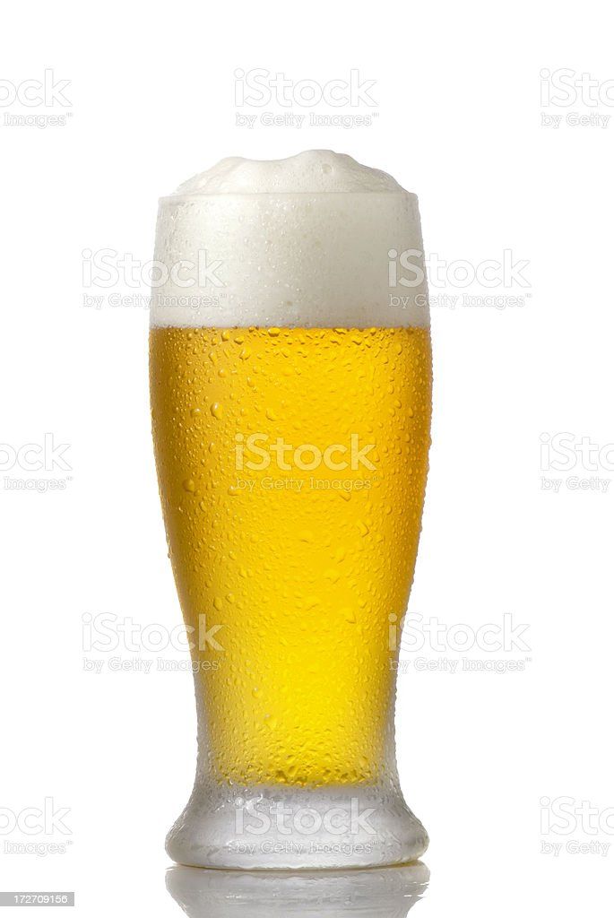 Cold Beer Glass isolated on white royalty-free stock photo