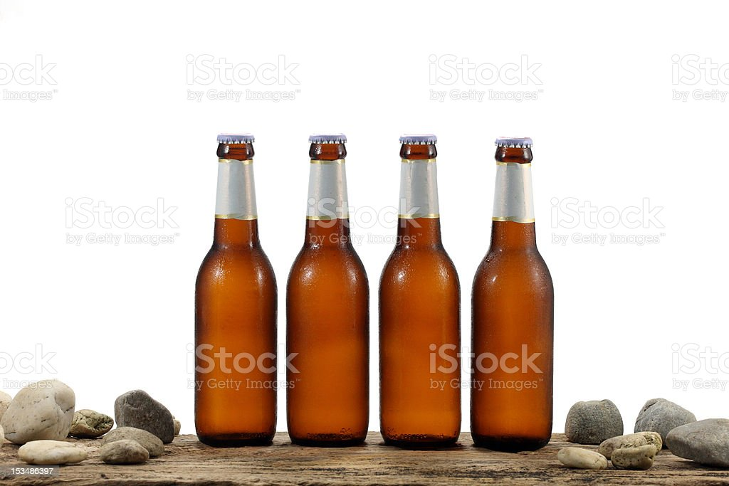 cold beers isolated on white stock photo
