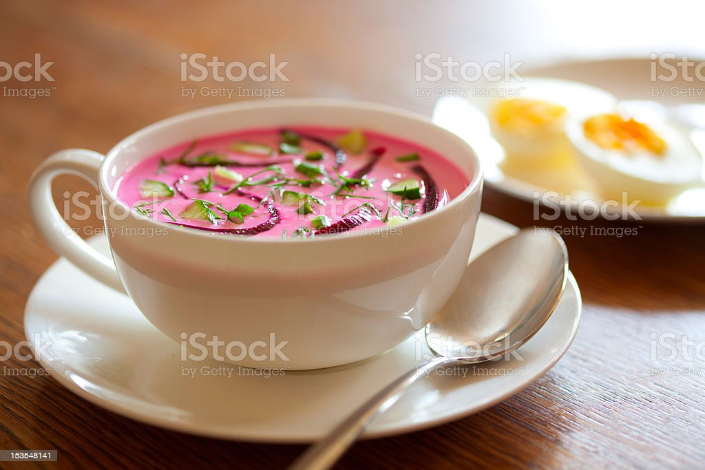 Cold beet soup royalty-free stock photo