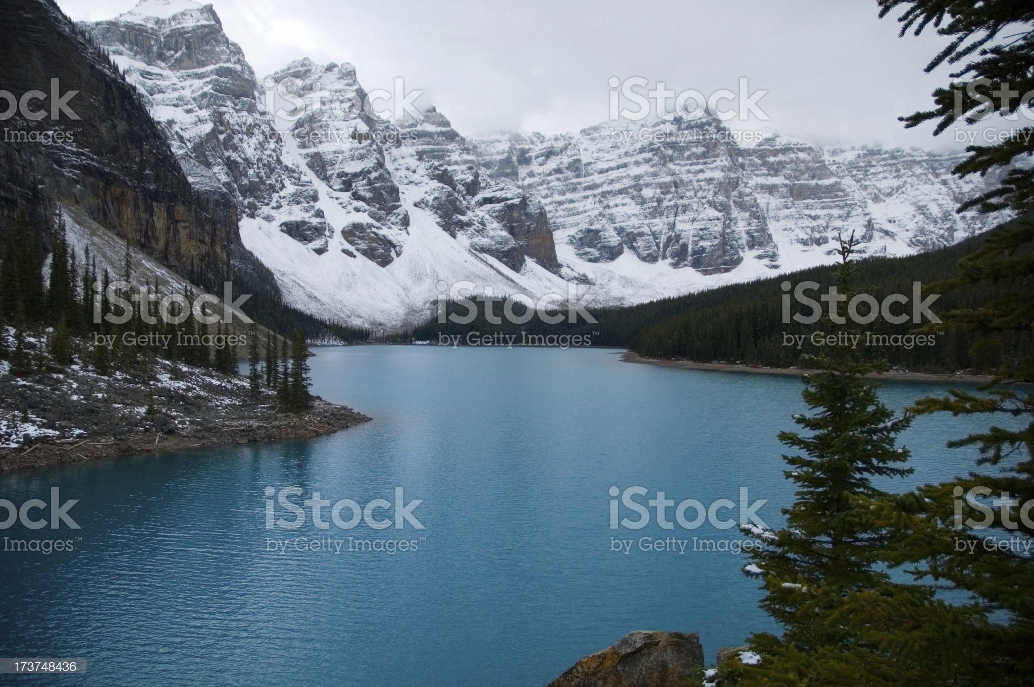 Cold, Blue Lake royalty-free stock photo