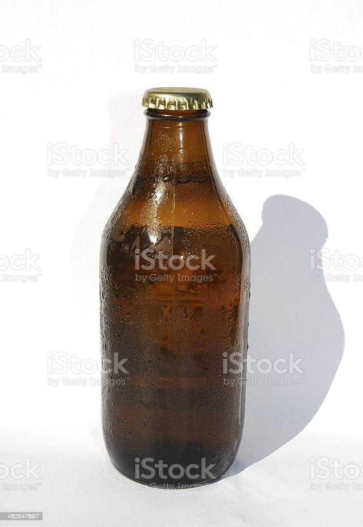Cold Bottle of Beer stock photo
