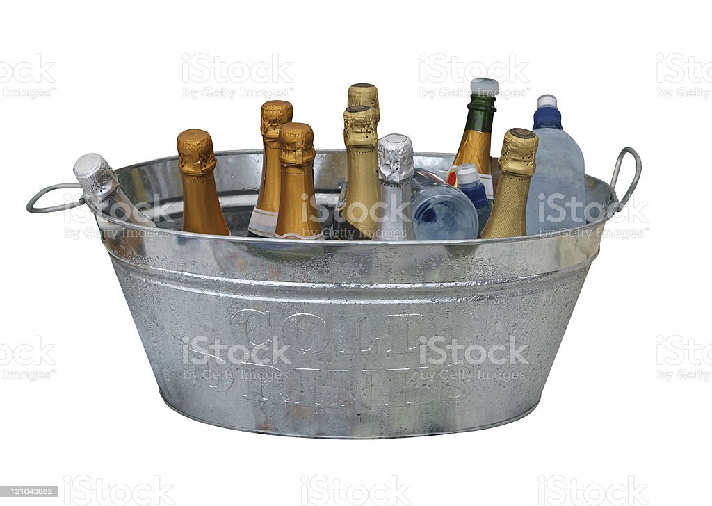 Cold Bottles of Wine royalty-free stock photo
