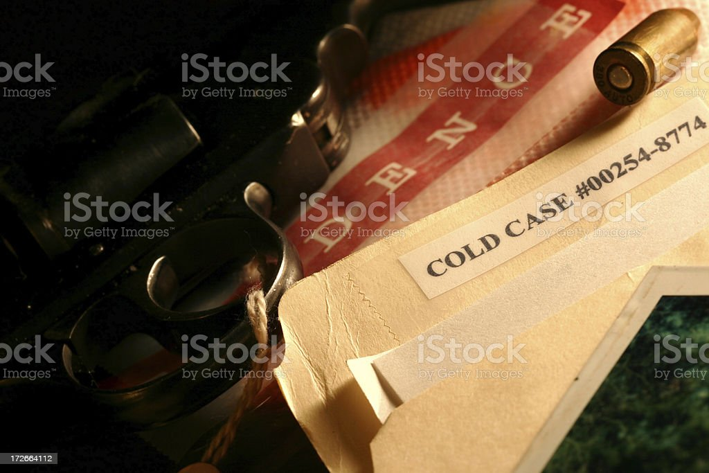 Cold Case File royalty-free stock photo