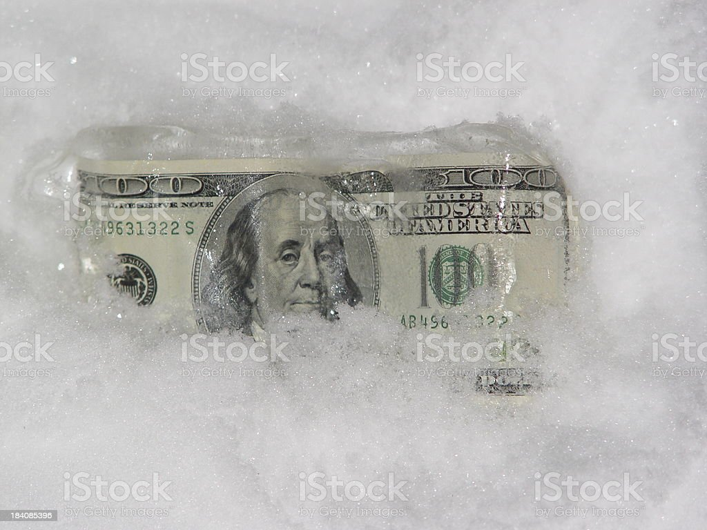 Cold Cash royalty-free stock photo