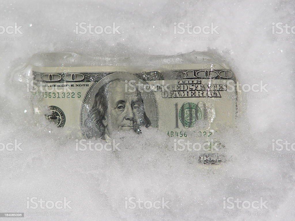 Cold Cash stock photo