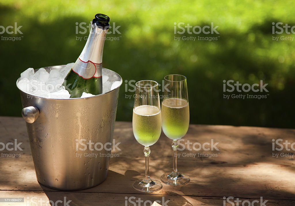 Cold Champagne royalty-free stock photo