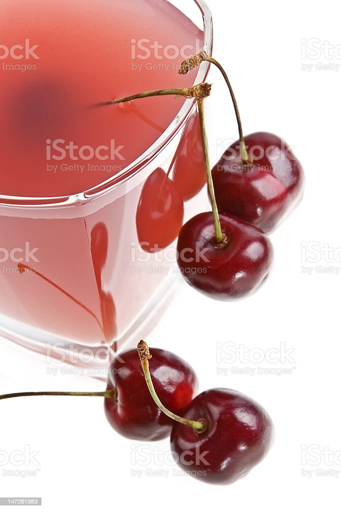 Cold cherry jelly royalty-free stock photo