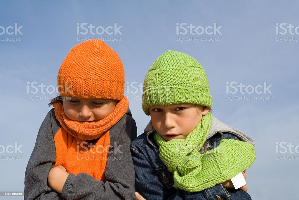 cold children stock photo