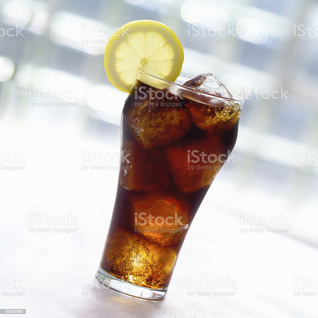 Cold cola with Lemon royalty-free stock photo