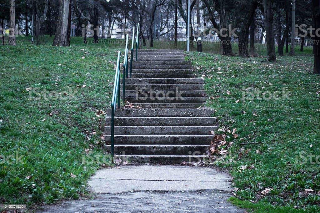 Cold Concrete Stairway stock photo