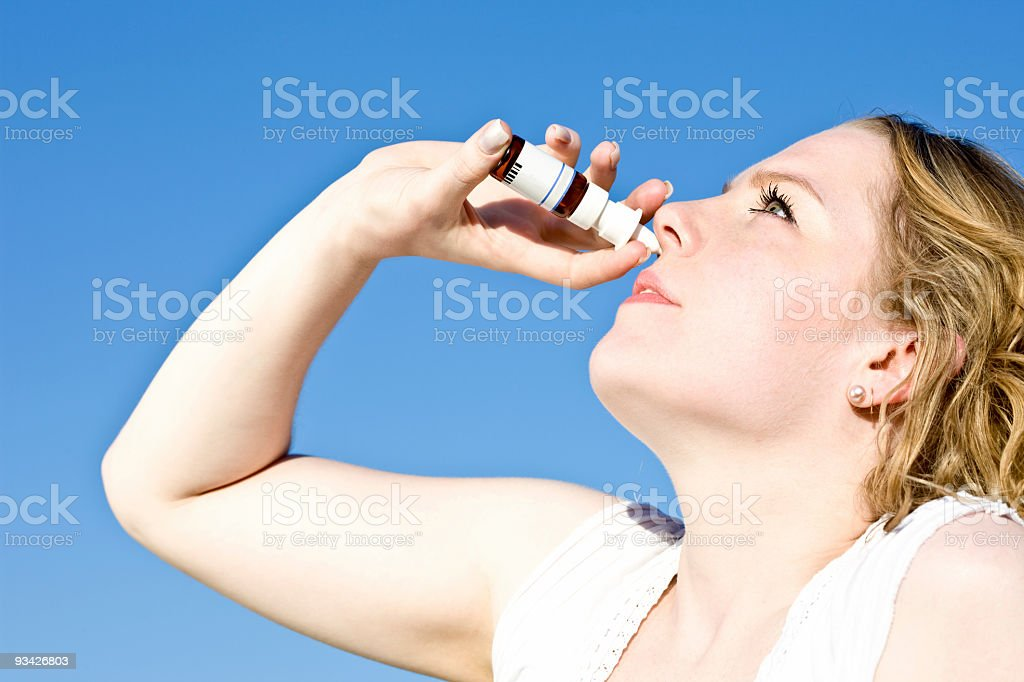 cold cure nasal spray royalty-free stock photo