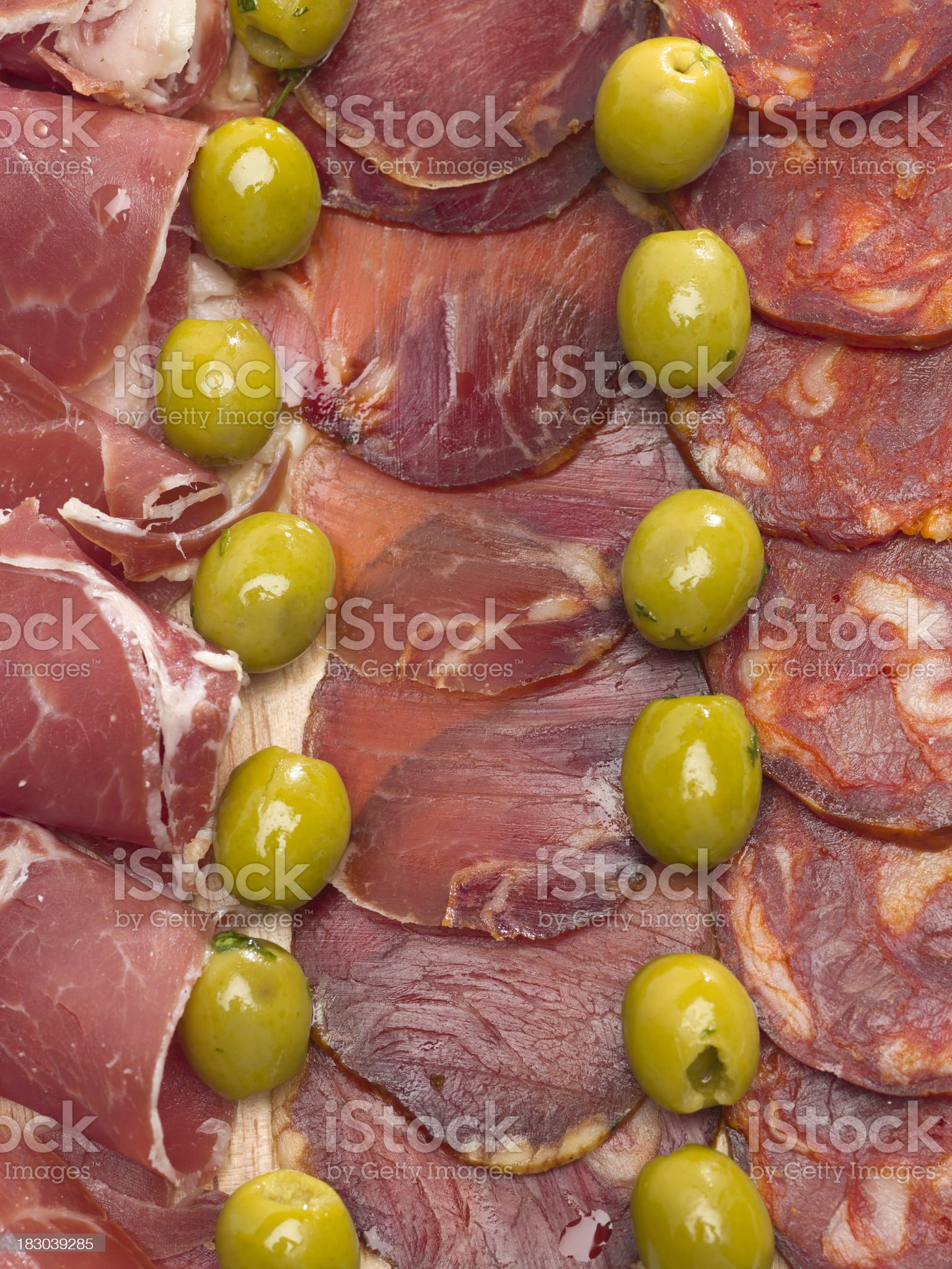 Cold Cuts Background royalty-free stock photo
