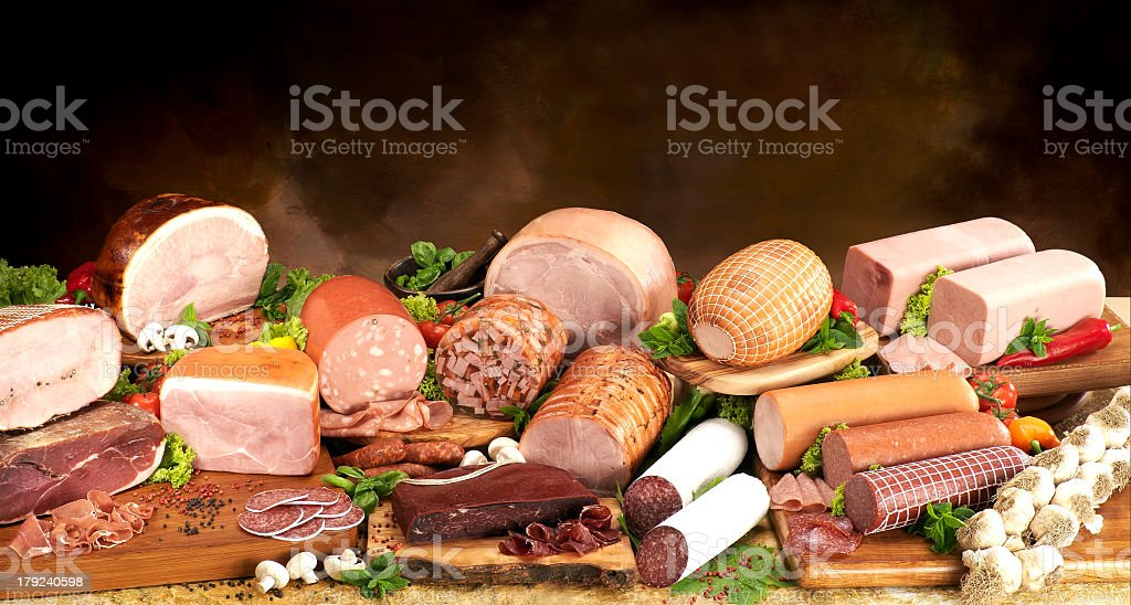 cold cuts collection stock photo