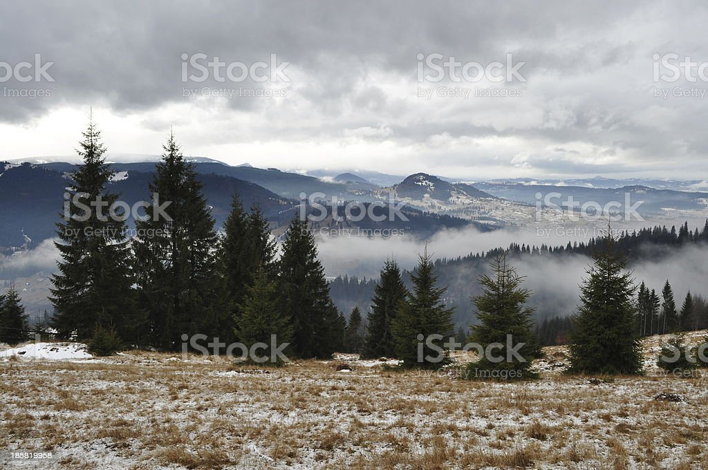 Cold day in mountains royalty-free stock photo