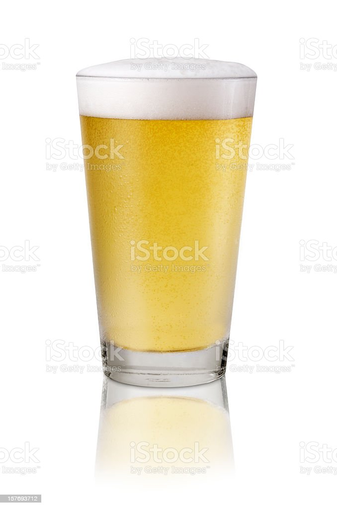 Cold Draught Beer stock photo