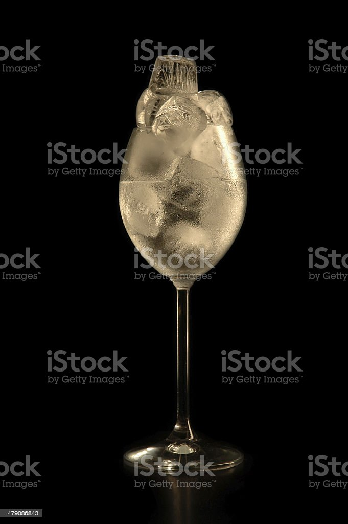 cold drink with ice royalty-free stock photo