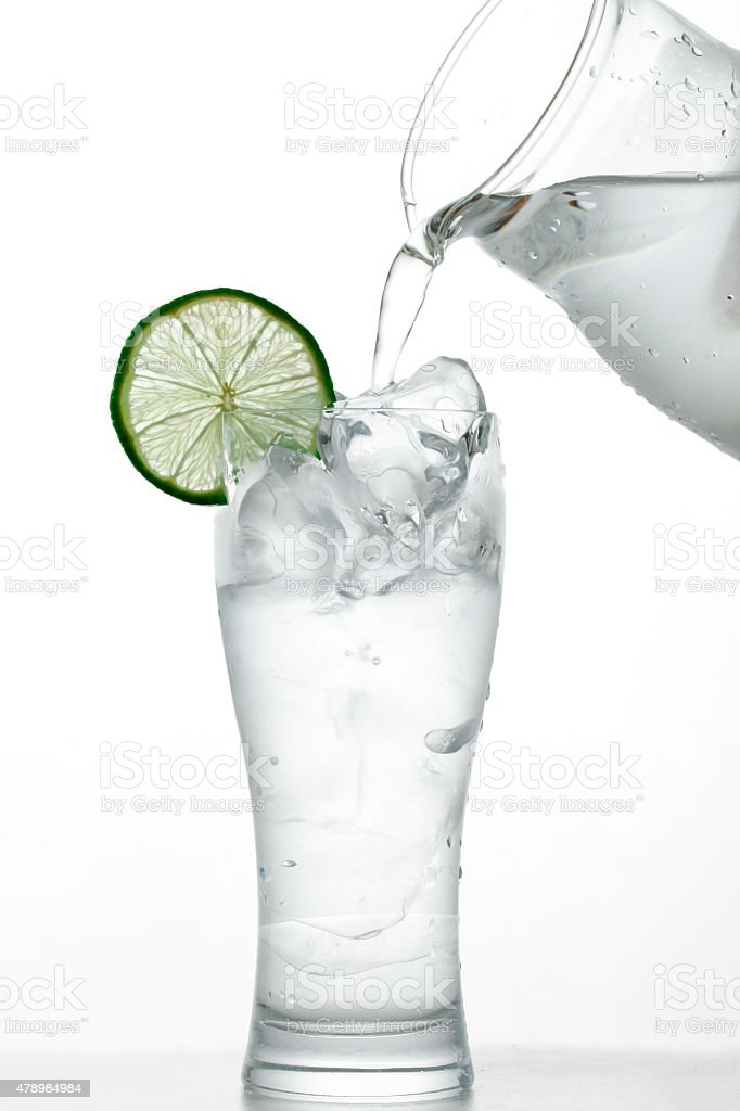 Cold drinking water stock photo