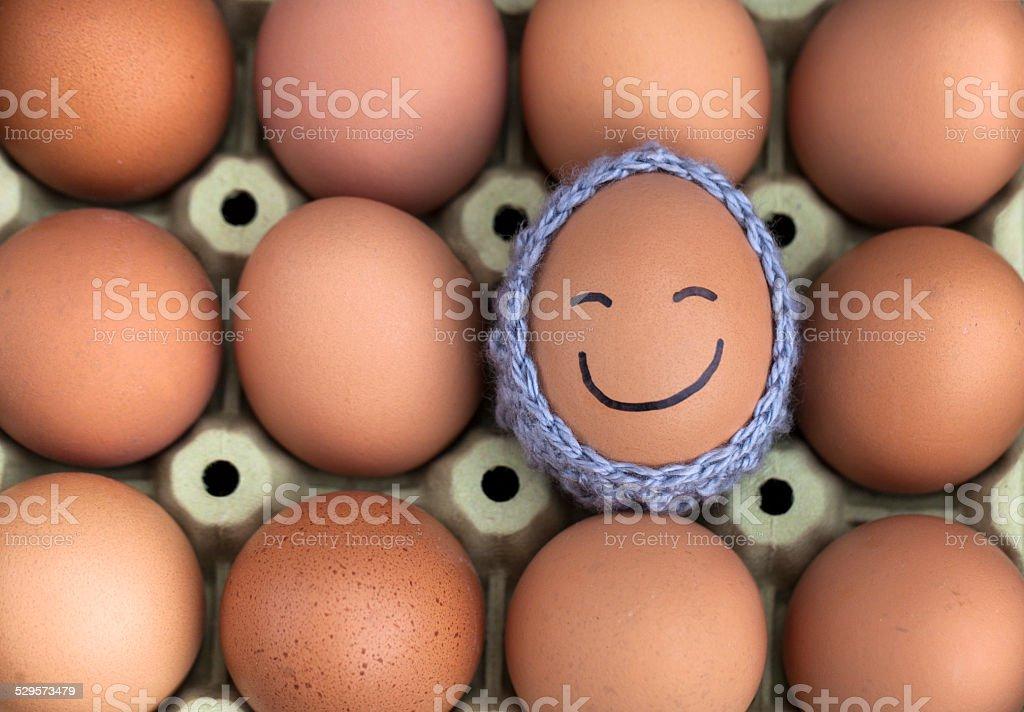 Cold egg stock photo