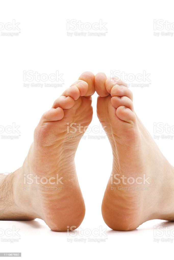Cold feet on white royalty-free stock photo