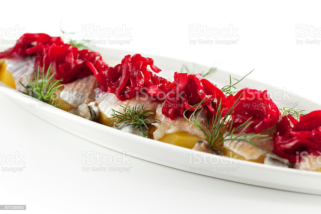 Cold Fish Dishes - Fish with Potato stock photo
