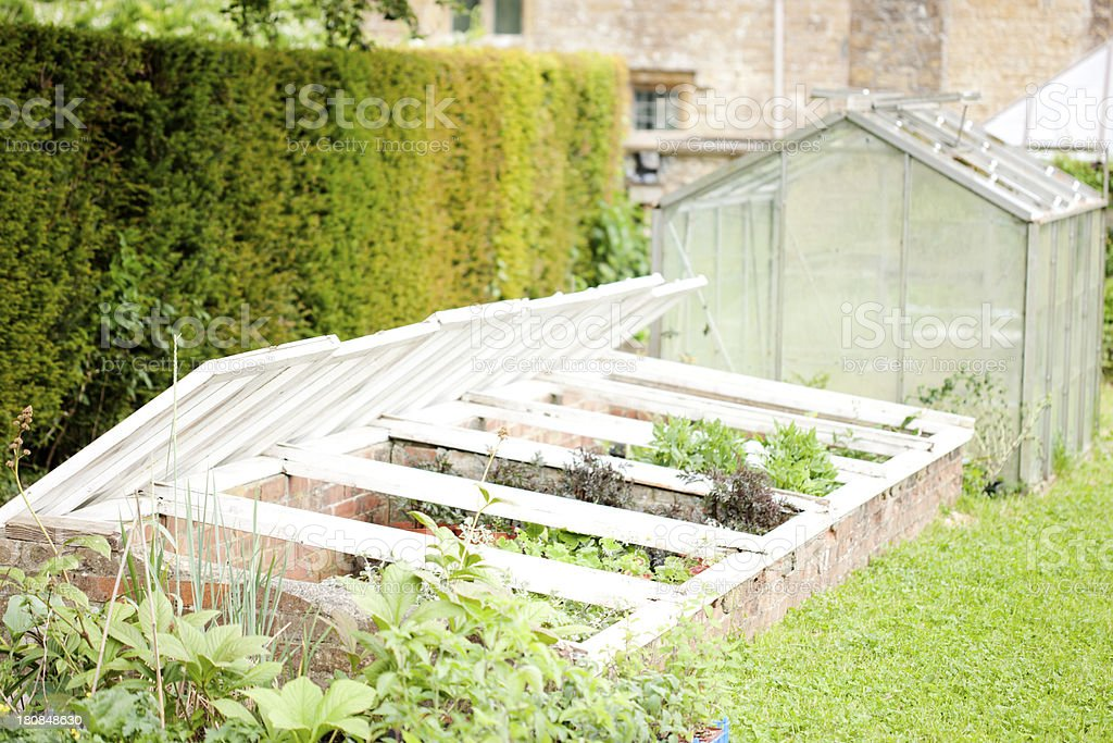 Cold frame stock photo