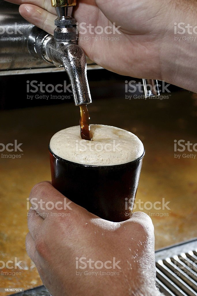 Cold Fresh Dark Beer royalty-free stock photo