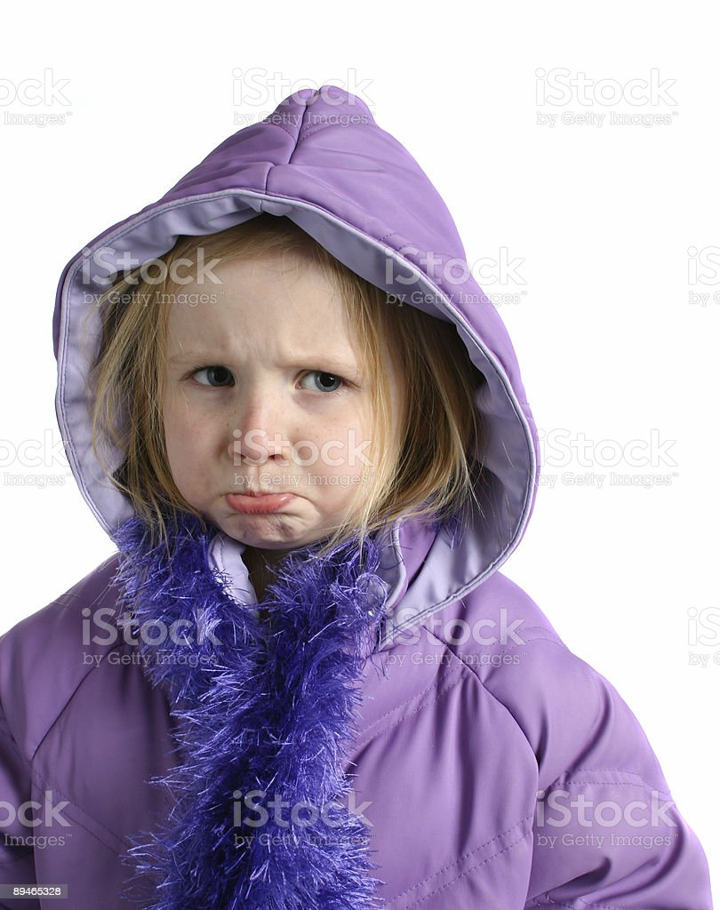 cold girl royalty-free stock photo