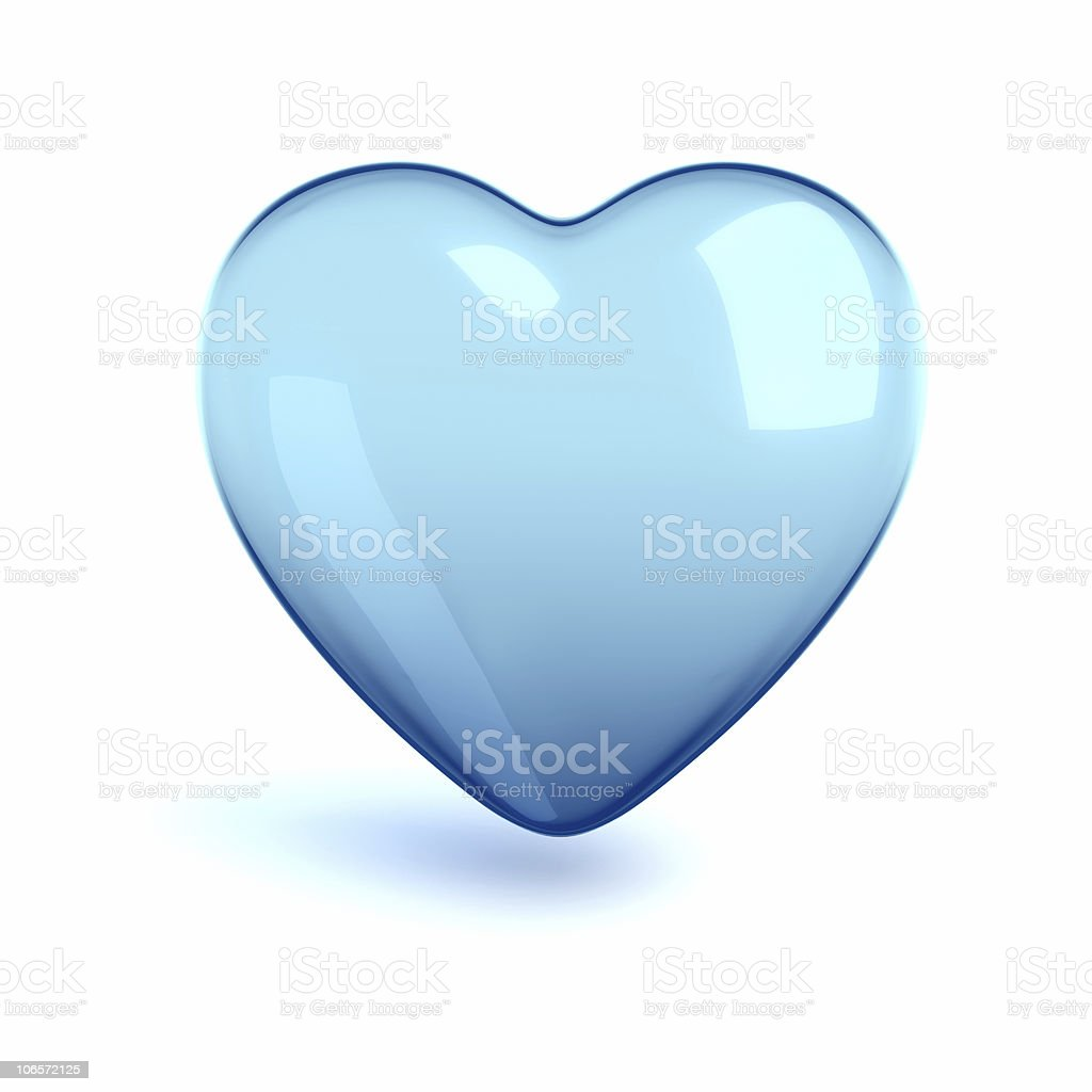 cold glass heart stock photo